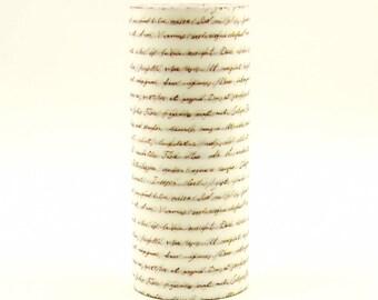 Letter - Japanese Washi Masking Tape - 100mm wide - 5.5 Yard