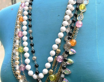 """28"""" long multi stands necklace"""