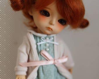 "Dollfie Lati Yellow Pukifee 14cm golden mohair wig 5~6"" - Carrot"
