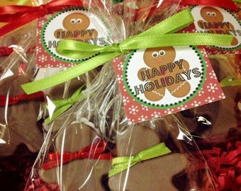 1 GINGERBREAD MAN Soap Favor (with Tag & Ribbon) - Christmas Soap, Ginger bread soap favor, Party, Winter, Stocking Stuffers