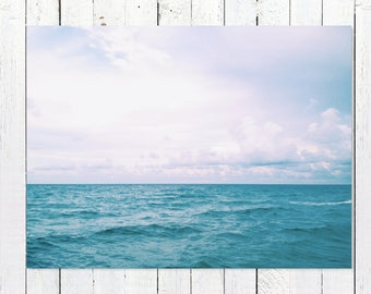 Ocean Art Prints | Ocean Wall Decor | Ocean Photography | Ocean Wall Decor | Turquoise Sea, Endless Blue Horizon | Ocean Wall Art Pictures