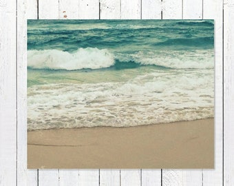 Ocean Decor Print Photography | Beach Photography | Turquoise Home Decor | Teal Wall Art | Ocean Waves | Coastal Beach Decor Beach Wall Art