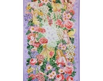 12% off thru July fabric panel FAIRY DREAM Flower Fairy Fairies from Michael Miller-