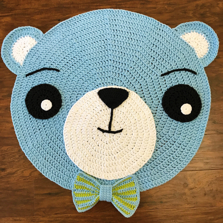 Crochet Rug PATTERN Crochet Bear Rug Nursery Rug Pattern