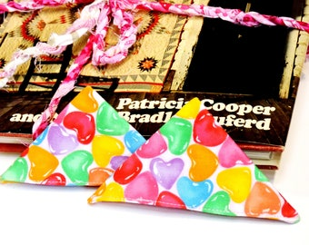 Candy Hearts Bookmark, Fabric Corner Page Marker, Daily Planner Date Place Holder, Librarian Teacher Student Valentine Gift itsyourcountry