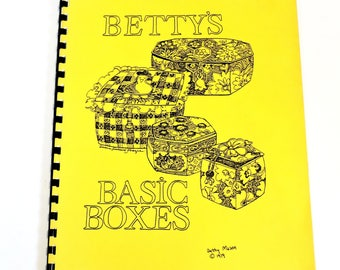Bettys Basic Boxes, Gentle Art of Boxing by B Mason, Creating Fabric Containers, Vintage Craft Spiral Bound Paperback Book itsyourcountry