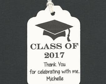 Graduation Favor tags - 50 PERSONALIZED Thank you  - Graduation Favor tags-Gift tags-Hang Tags