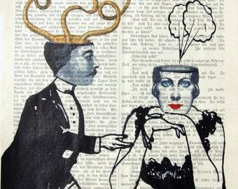 VOILA 3 art print humor thinking love lovers