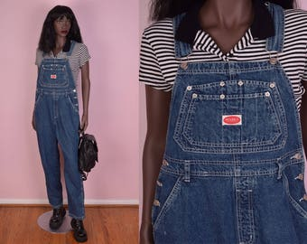 90s Denim Overalls/ Large/ 1990s