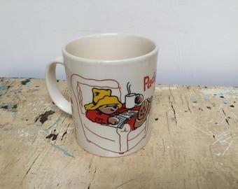 Vintage Paddington Bear Autumn mug, made in England by Kilncraft Staffordshire tableware  for D.E. (Douwe Egberts) coffee Holland