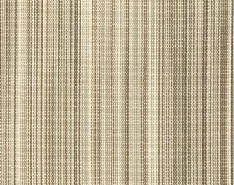 One Custom Twin Size Mattress Cover for  Indoor/Outdoor - Jojo Stripe Birch - Beige Tan Brown