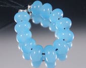Poseidon - Handmade Lampwork Glass Spacer Set - baby blue translucent