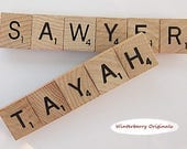 2 Custom Scrabble Fridge Magnets