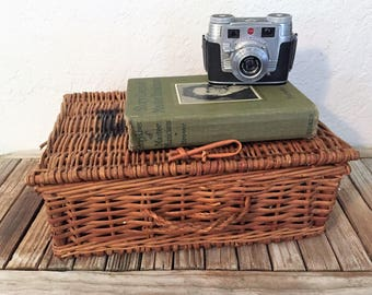 Vintage Farmhouse Lidded Basket F & M