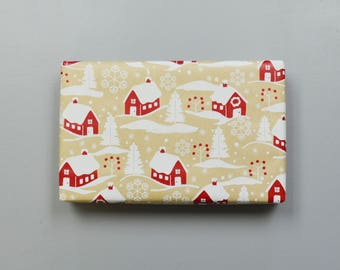 Kraft Country Christmas Homes Wrapping Paper, 2 Feet x 10 Feet - New for 2017