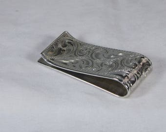 Vintage Sterling Silver Money Clip Smith Enterprises Reno, Nevada 22.4 Grams