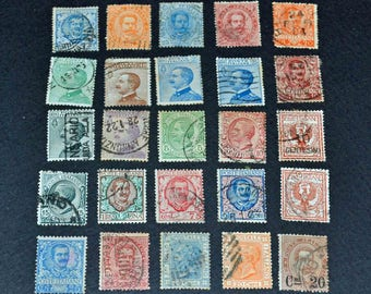Italy 25 rare stamps from 1882-1910
