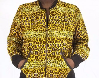 Ankara bomber jacket - Brown rocky