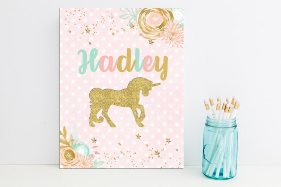 Unicorn Personalized Folder