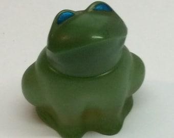 Vintage Avon Perfume Bottle Green Frog Emerald Prince