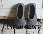 CUSTOM ORDER, Felted slippers, 2 pairs