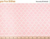 "SUMMER SALE END Of Bolt - 23""x60"" of Blush Quatrefoil Minky From Shannon Fabrics"