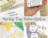 Spring Gift Tag & Sticker Subscription / Product Tags / Packaging Supplies / Gift Wrap / Happy Mail Packaging / Thank You Tags / Mini Tags