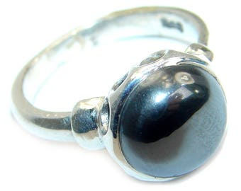 Onyx Ring size 8 1/4 in Sterling Solid Silver