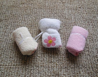 EMBROIDERED BABY WASHCLOTH Set of Three