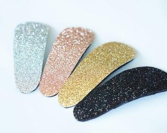 Big Glitter Snap Clip in 4 Colors
