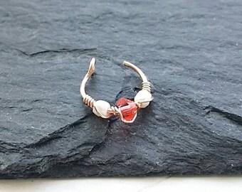 Rose Gold Nose Ring - Fake Nose Ring - Nose Ring - Clip On Nose Ring - Faux Piercing - No Piercing Nose Cuff