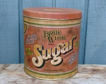 Vintage Sugar Canister - Sugar Tin - Canister Set - Kitchen Storage - Retro Kitchen