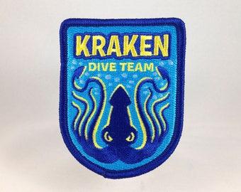 Kraken Dive Team embroidered patch