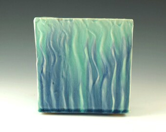 Wall Hanging, Wall Art, Handmade Pottery, Home Decor, Turquoise and Blue Pottery,Wall Art Decor, Office Decor, Modern Art, Ceramic Box, W029