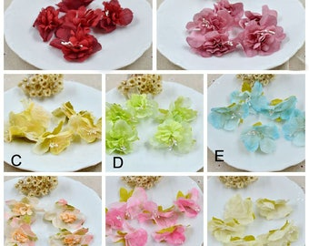 """100pcs 4.5cm 1.77"""" wide pink/yellow flower appliques patches G14T529P0906V free ship"""