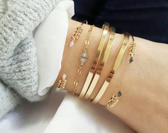 Gold filled hand beaded ADITI Bracelet