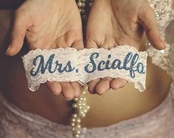 SOMETHING BLUE for BRIDE Wedding Garter / Wedding Garter / lace garter / Something Blue