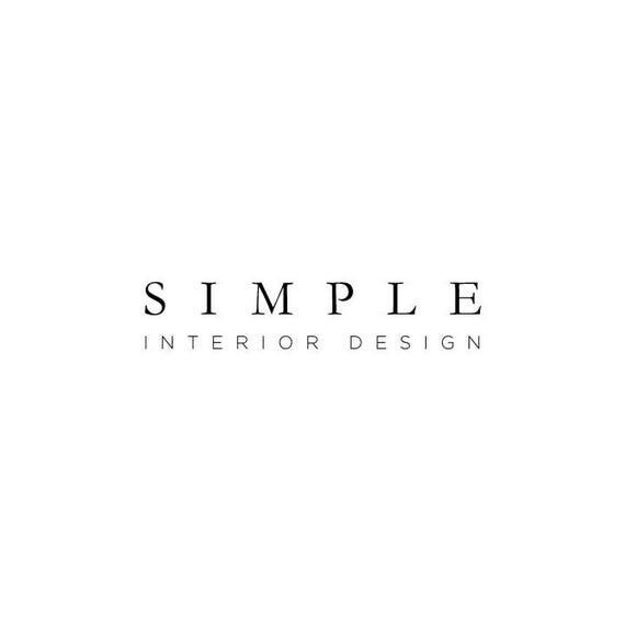 Simple Interior Design Logo Serif Custom