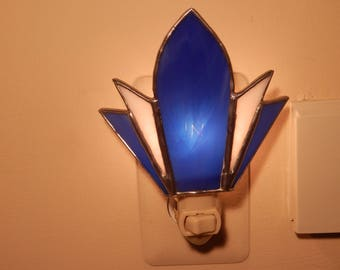 Stained Glass Night Light- (Blue)
