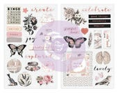Prima Amelia Rose Collection  Scrapbook Chipboard Stickers New Release In Stock Ready To Ship