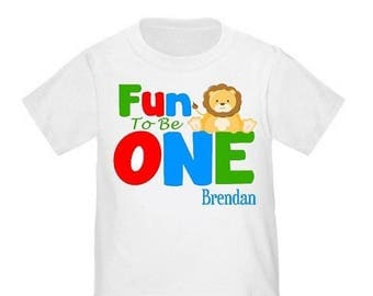 ON SALE 1st Birthday Cute Lion Personalized Birthday Shirt - ANY Age