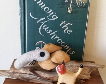 Maggot Grub Catnip Cat Toy - Needle Felted Wool