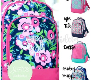 FREE PERSONALIZATION Monogrammed Backpack and Lunchbox Set - Personalized Backpack - Personalized Lunchbox - Lunch Bag - Back to S