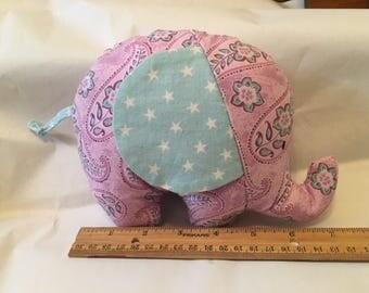 Lilac & Blue Elephant Stuffed Animal