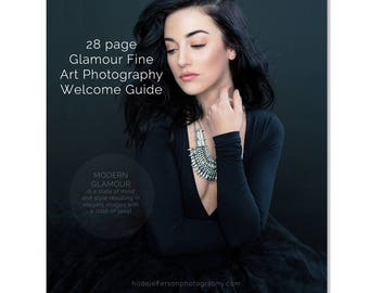 Photoshop Templates, Glamour Fine Art Photography Welcome Guide Magazine, Price Guide, Photography Marketing Magazine Template, GFAWG100