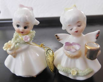 Vintage Napcoware Bone China Mini Figurines Napcoware Collectible Angel