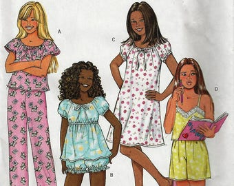 BUTTERICK #AB4383 FAST & EASY Pattern  Girls Pajama Gown Shorts Pants Top Pants Sz 14-16  Uncut Factory Folded