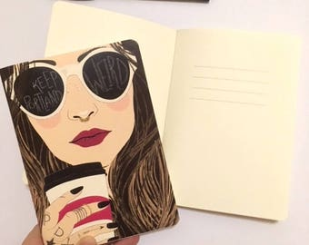 Keep Portland Weird (Brunette) | Journal | Notebook | Hipster Girl | Christa Pierce