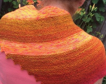 Sedona shawl, handknit in beautiful wool blend. 100% of the proceeds will be donated to the Alzheimer's foundation.