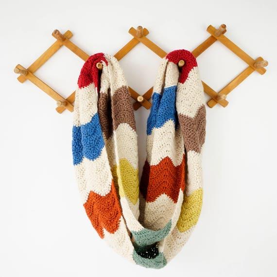Big chunky scarf crochet pattern infinity woolen